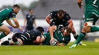 4th June 2021; Galway Sportsgrounds, Galway, Connacht, Ireland; Rainbow Cup Rugby, Connacht versus Ospreys; Shane Delahunt holds on to the ball for Connacht