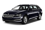 2020 Skoda Superb-Combi-iV Style 5 Door Wagon Angular Front automotive stock photos of front three quarter view