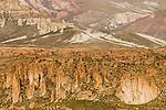 Rock formations in dry puna, Abra Granada, Andes, northwestern Argentina