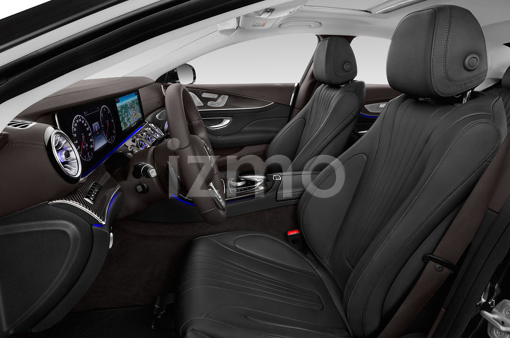Front seat view of a 2019 Mercedes Benz CLS Coupe AMG line 4 Door Sedan front seat car photos