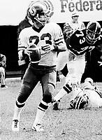 Ron Lancaster Saskatchewan Roughriders quarterback 1974. Copyright photograph Scott Grant