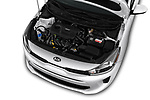 Car stock 2018 KIA Rio S 4 Door Sedan engine high angle detail view