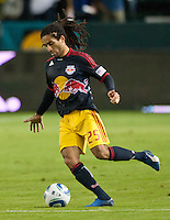 CARSON, CA - November 3, 2011: NY Red Bull midfielder Stephane Auvray (25) during the match between LA Galaxy and NY Red Bulls at the Home Depot Center in Carson, California. Final score LA Galaxy 2, NY Red Bulls 1.
