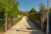 BNPS.co.uk (01202) 558833. <br /> Pic: Savills/BNPS<br /> <br /> Pictured: Entrance gates and driveway. <br /> <br /> A wheely rare opportunity...<br /> <br /> A grand country manor with a 300-year-old donkey wheel is on the market for £4.95m.<br /> <br /> The donkey wheel at Annables Manor, one of only two still in existence in England, was built in the 17th century and used to draw water from the 145ft well.<br /> <br /> The Grade II listed manor house near Harpenden, Herts, is one of the finest country houses in the area and as well as its unusual historic feature it has a heated swimming pool and tennis court in its 5.34 acres of land.<br /> <br /> The seven-bedroom home has lots of impressive features including oak beams, open fireplaces and solid oak floors.