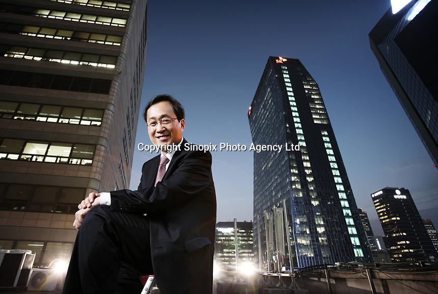 Kim Shin-bae, CEO of SK Telecom<br /> <br /> Photo portfolio of Kim  / Sinopix