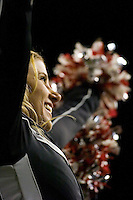 23 December 2006: Utah cheerleaders celebrate the Ute's last touchdown during the 2006 Bell Helicopters Armed Forces Bowl between The University of Tulsa and The University of Utah at Amon G. Carter Stadium in Fort Worth, TX.