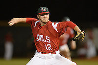 Mississippi Valley State Delta Devils Shawn Wiseman (12) during a game against the Ball State Cardinals on February 21, 2014 at North Charlotte Regional Park in Port Charlotte, Florida.  Ball State defeated Mississippi Valley 12-1.  (Mike Janes/Four Seam Images)