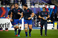 31st October 2020; Stade de France, Paris, France; Six Nations Rugby International, France versus Ireland;  Fabien Galthie ( trainer France ) during pre-game warm-up