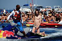 12th June 2021, Saint-Raphaël, Provence-Alpes-Côte d'Azur, France; Red Bull Cliff Diving competition;  Gary HUNT (Fra)