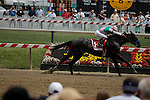 MAY 16, 2015:  Fame and Power wins the Sir Barton Stakes with Martin Garcia aboard at Pimlico Race Course in Baltimore, Maryland. Jon Durr/ESW/Cal Sport Media