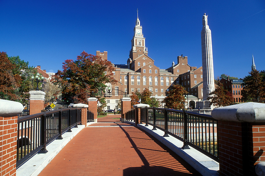 Providence, Rhode Island, RI, County Courthouse and War Memorial on College Street in downtown Providence in the fall.