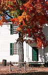 Red orange autumn leaves in Colonial Williamsburg Virginia home, Fine Art Photography by Ron Bennett, Fine Art, Fine Art photography, Art Photography, Copyright RonBennettPhotography.com ©