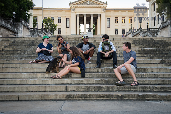 October 18, 2016; Notre Dame undergraduate students at the University of Havana in Cuba. (Photo by Matt Cashore/University of Notre Dame)