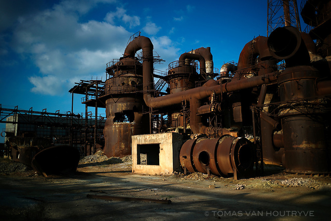 An abandoned phosphate factory is seen in City Sumgayit, which according to TIME magzine, is one of the 10 most polluted cities in the world, a suburb of Baku, Azerbaijan.