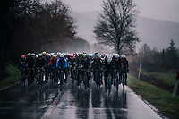 Wout Van Aert's (BEL/Veranda's Willems-Crelan) teammates pushing towards the first gravel sector<br /> <br /> 12th Strade Bianche 2018<br /> Siena > Siena: 184km (ITALY)