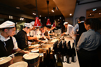 MELBOURNE, 30 June 2017 – Chefs prepare dishes at a dinner celebrating Philippe Mouchel's 25 years in Australia with six chefs who worked with him in the past at Philippe Restaurant in Melbourne, Australia.