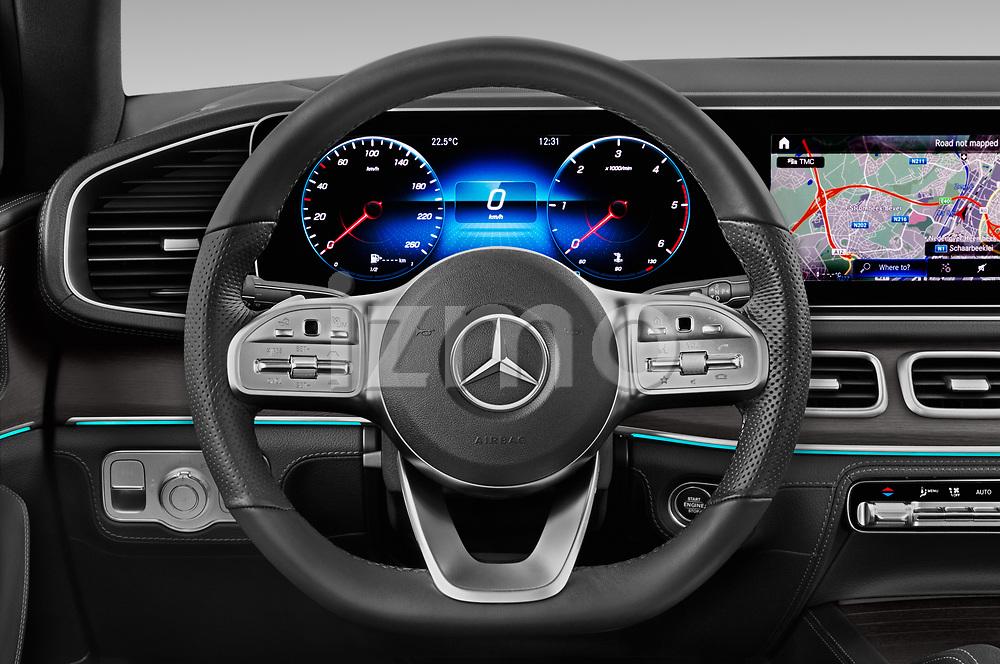 Car pictures of steering wheel view of a 2020 Mercedes Benz GLE - 5 Door SUV Steering Wheel