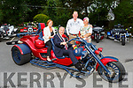 Mayor of Tralee Cllr: Jim Finucane and Grace O'Donnell sitting on a Trike Bike pictured with the owners Thomas and Marion Loerer of Germany in the Meadowlands Hotel on Tuesday as they tour Kerry as a direct result of meeting Go Kerry & Kerry County Council representatives at a travel fair in Stuttgart.