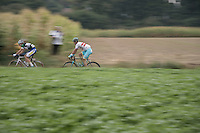 Bert Van Lerberghe (BEL/Topsport Vlaanderen-Baloise) & Gatis Smukulis (LVA/Astana) speeding along<br /> <br /> 12th Eneco Tour 2016 (UCI World Tour)<br /> stage 4: Aalter - St-Pieters-Leeuw (202km)