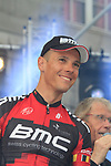 Philippe Gilbert (BEL) BMC Racing Team on stage at the Team Presentation Ceremony before the 2012 Tour de France in front of The Palais Provincial, Place Saint-Lambert, Liege, Belgium. 28th June 2012.<br /> (Photo by Eoin Clarke/NEWSFILE)