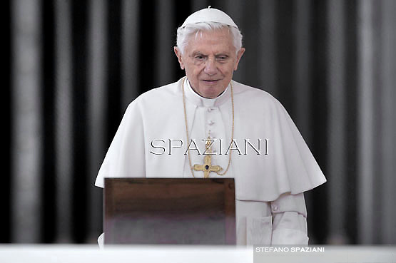 Pope Benedict XVI during his weekly general audience in St. Peter square at the Vatican, Wednesday. 26 September, 2012