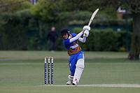 Tom Daniels hits 4 runs for Upminster during Upminster CC (batting) vs Ilford CC, Hamro Foundation Essex League Cricket at Upminster Park on 8th May 2021