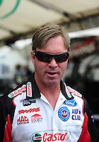 Apr. 29, 2012; Baytown, TX, USA: NHRA funny car driver Mike Neff during the Spring Nationals at Royal Purple Raceway. Mandatory Credit: Mark J. Rebilas-