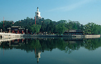 China, weiße Dagoba im Bei Hai-Park in Peking