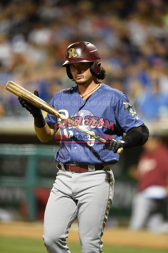 ***Temporary Unedited Reference File***Frisco RoughRiders designated hitter Alex Burg (9) during a game against the Corpus Christi Hooks on April 23, 2016 at Whataburger Field in Corpus Christi, Texas.  Corpus Christi defeated Frisco 3-2.  (Mike Janes/Four Seam Images)