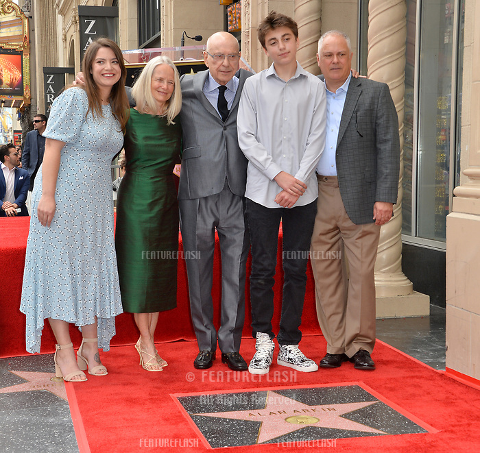 LOS ANGELES, CA. June 07, 2019: Molly Arkin, Suzanne Newlander Arkin, Alan Arkin, Emmet Arkin & Matthew Arkin at the Hollywood Walk of Fame Star Ceremony honoring Alan Arkin.<br /> Pictures: Paul Smith/Featureflash