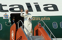 September 9, 1984 File Photo - Pope John-Paul II arrive at Ancienne-Lorette Quebec city airport for a 12 days tour of Canada.