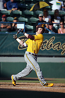 Andrew Shaps (16) of the Arizona State Sun Devils bats against the Long Beach State Dirtbags at Blair Field on February 27, 2016 in Long Beach, California. Long Beach State defeated Arizona State, 5-2. (Larry Goren/Four Seam Images)
