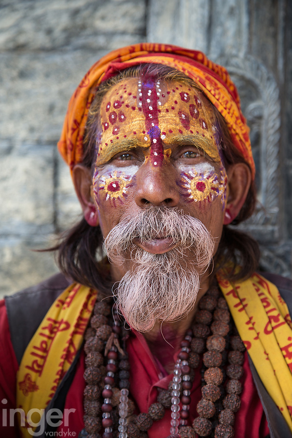 Saddhu at Pashupatinath, Nepal