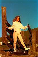Disa Rifkin on Dougherty Road, 1987.  &#xA;<br />