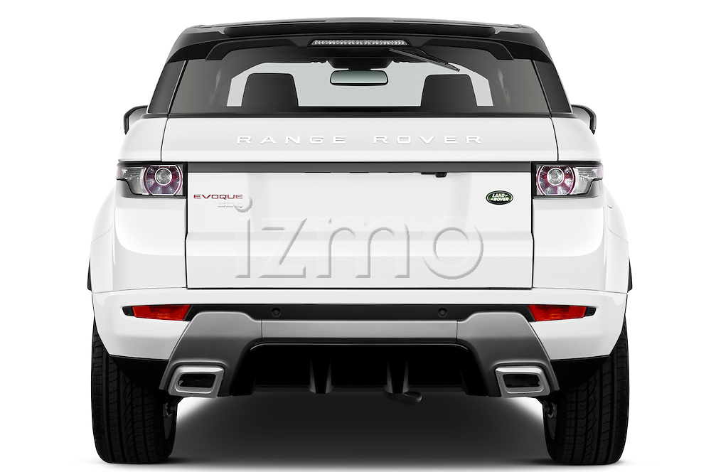 Straight rear view of a 2011 Land Rover Range Rover Evoque SUV