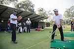 Chiragh Kumar of India gives a golf clinic during the 58th UBS Hong Kong Golf Open as part of the European Tour on 08 December 2016, at the Hong Kong Golf Club, Fanling, Hong Kong, China. Photo by Vivek Prakash / Power Sport Images