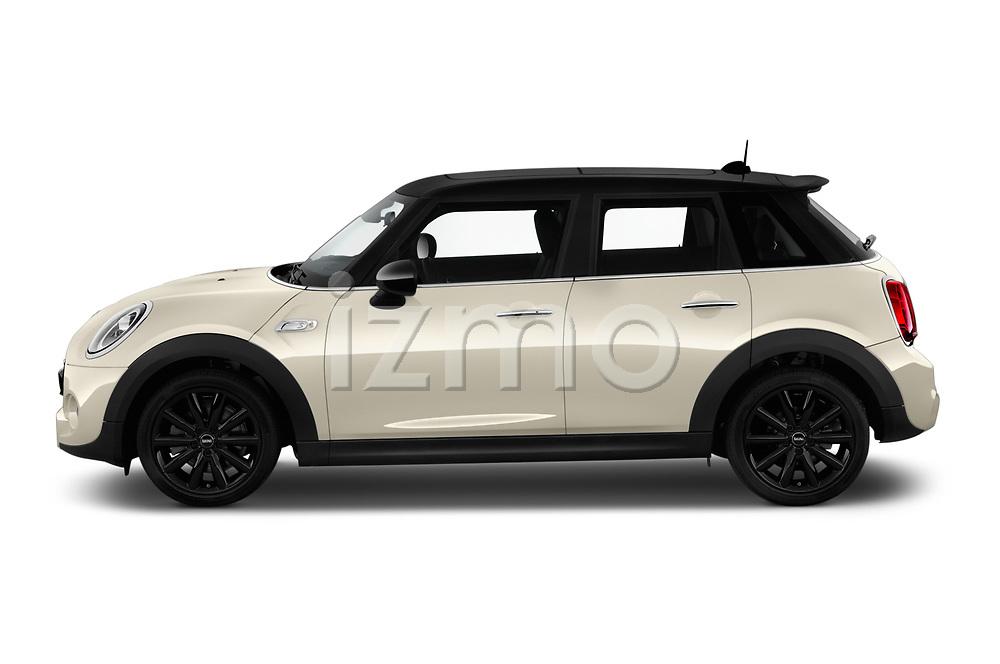 Car Driver side profile view of a 2019 MINI Hardtop-4-Door Cooper-S 5 Door Hatchback Side View