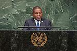 DSG meeting<br /> <br /> AM Plenary General DebateHis<br /> <br /> His Excellency Filipe Jacinto NYUSI President of the Republic of Mozambique