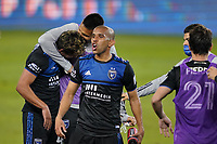 SAN JOSE, CA - NOVEMBER 4: Judson #93 of the San Jose Earthquakes celebrates with teammates during a game between Los Angeles FC and San Jose Earthquakes at Earthquakes Stadium on November 4, 2020 in San Jose, California.