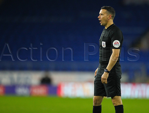 3rd November 2020; Cardiff City Stadium, Cardiff, Glamorgan, Wales; English Football League Championship Football, Cardiff City versus Barnsley; Referee Dean Whitestone
