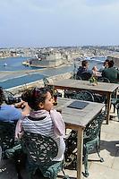 Restaurant bei dem Upper Barracca Garden  in Valletta, Malta, Europa