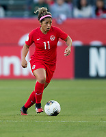 CARSON, CA - FEBRUARY 07: Desiree Scott #11 of Canada dribbles the ball during a game between Canada and Costa Rica at Dignity Health Sports Park on February 07, 2020 in Carson, California.