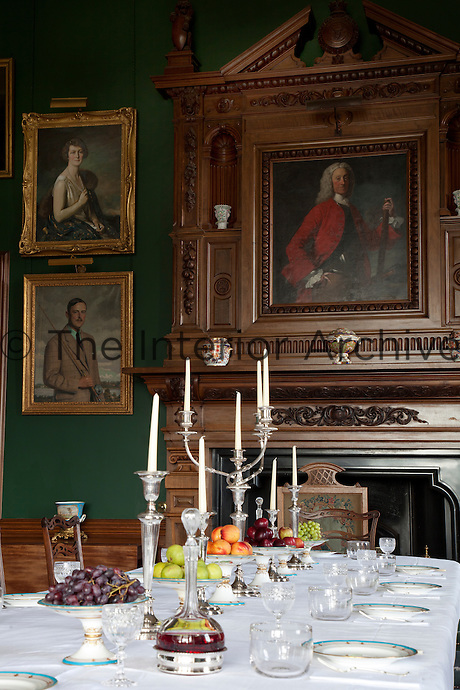 The 2nd Earl of Stair, framed in a pedimented overmantel in the dining room