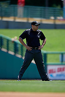 Umpire Mike Wiseman during an International League game between the Scranton/Wilkes-Barre RailRiders and Rochester Red Wings on June 25, 2019 at Frontier Field in Rochester, New York.  Rochester defeated Scranton 10-9.  (Mike Janes/Four Seam Images)