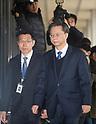 Woo Byung-Woo former senior presidential secretary for civil affairs appears at prosecutors office