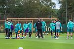16.10.2020, Trainingsgelaende am wohninvest WESERSTADION - Platz 12, Bremen, GER, 1.FBL, Werder Bremen Abschlusstraining<br /> <br /> <br /> Mannschaftskreis vor dem Absachliussspiel<br /> Florian Kohfeldt (Trainer SV Werder Bremen)<br /> Davie Selke  (SV Werder Bremen #09)<br /> Stefanos Kapino (Werder Bremen #27)<br /> Ilia Gruev (Werder Bremen #28)<br /> Jiri Pavlenka (Werder Bremen #01)<br /> Milot Rashica (Werder Bremen #07)<br /> Kevin Möhwald / Moehwald (Werder Bremen #06)<br /> Davie Selke  (SV Werder Bremen #09)<br /> Tahith Chong (Werder Bremen #22)<br /> <br /> Milos Veljkovic (Werder Bremen #13)<br /> <br /> <br /> Foto © nordphoto / Kokenge
