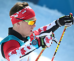 Pyeongchang, Korea, 10/3/2018- Derek Zaplotinsky competes in the mens 7.5km standing event in the Biathlon at the Alpensa Biathlon Centre during the 2018 Paralympic Games in PyeongChang. Photo Scott Grant/Canadian Paralympic Committee.