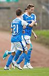 St Johnstone v Sunderland…15.07.17… McDiarmid Park… Pre-Season Friendly<br />Steven MacLean celebrates his goal<br />Picture by Graeme Hart.<br />Copyright Perthshire Picture Agency<br />Tel: 01738 623350  Mobile: 07990 594431
