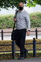 """Pictured: Scott Richards arrives at the Crown Court in Merthyr Tydfil, Wales, UK. Wednesday 18 August 2021<br /> Re: Businessman Scott Richards, who tried to drown his partner Kathryn Rich when their relationship broke down at the start of the national lockdown, is on trial at Merthyr Tydfil Crown Court, Wales, UK.<br /> Richards, 31, is accused of holding Kathryn Rich's head underwater in the bath at their family home.<br /> The alleged """"drowning"""" incident happened on April 4 when Ms Rich was following NHS guidelines to have a bath after finishing her shift."""