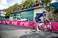 Joao Almeida (POR/Deceuninck - Quick Step) finishes 2nd up the Alpe di Mera (1560m)<br /> <br /> 104th Giro d'Italia 2021 (2.UWT)<br /> Stage 19 from Abbiategrasso to Alpe di Mera (Valsesia)(176km)<br /> <br /> ©kramon